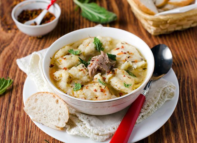 Суп з галушками: ситно, смачно, апетитно!