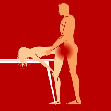 Секс на столе
