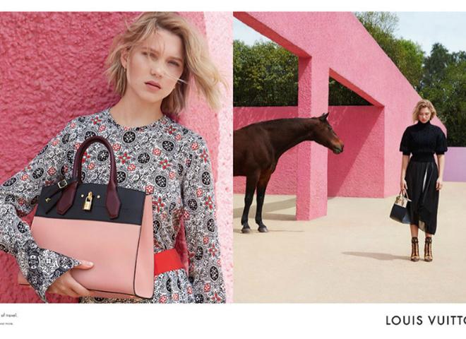 Леа Сейду в своєму першому кампейні Louis Vuitton