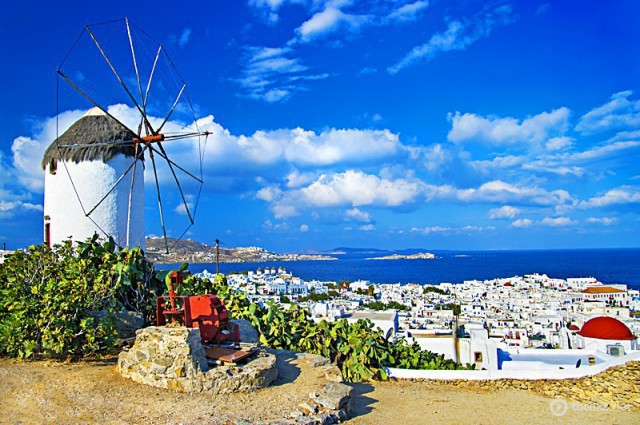 Где отметить День святого Валентина: остров Санторини