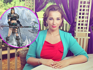 Фото С Анфисы Чеховой сделали воинственную секс-бомбу в онлайн-игре.