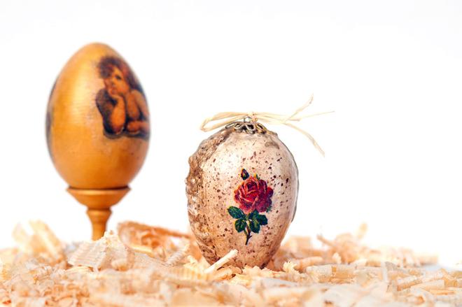 Декупаж великодніх дерев'яних яєць (фото)