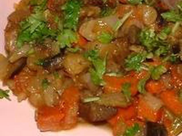 Овощное рагу рецепт с фото из баклажанов