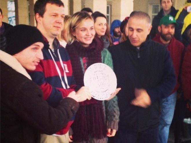 Полина Гагарина перед съемками