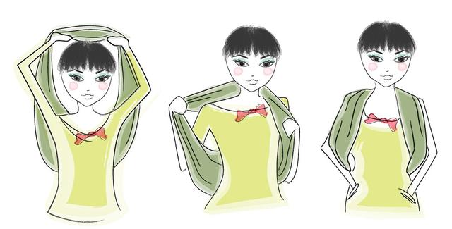 7 способів, як надягати шарф-хомут