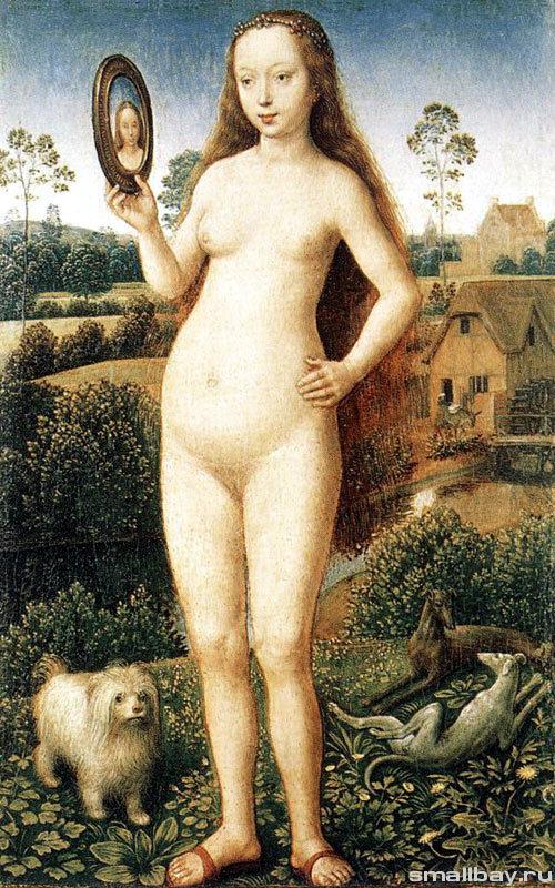 """Центральная панель триптиха """"Суета земная"""", Ханс Мемлинг, 1485 год"""