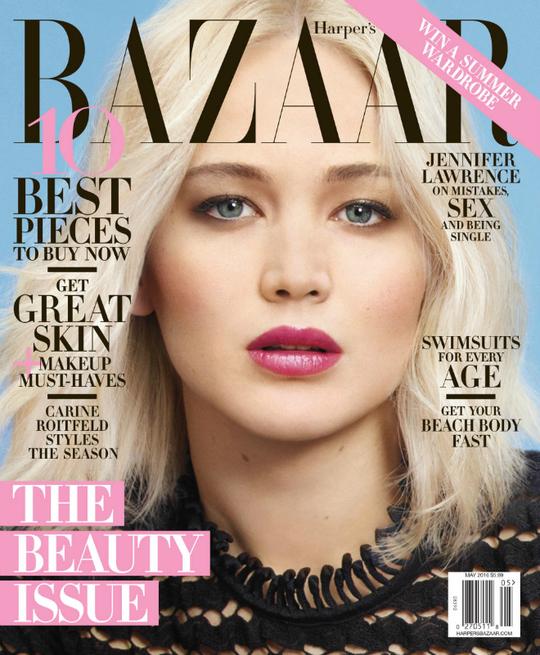 Дженніфер Лоуренс на обкладинці Harper's Bazaar
