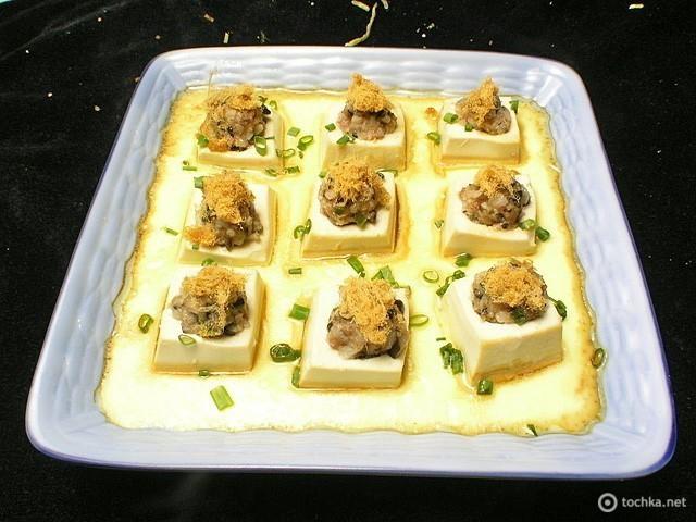 Тофу фаршированный рыбой