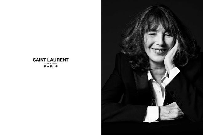Джейн Біркін знялася у рекламній кампанії Saint Laurent
