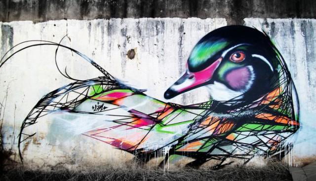 Птичий стрит-арт L7M