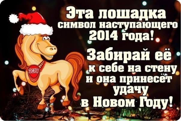 Лошадка 2014 года приносит удачу