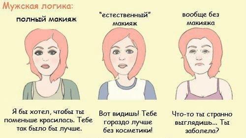 анекдоты про женский макияж