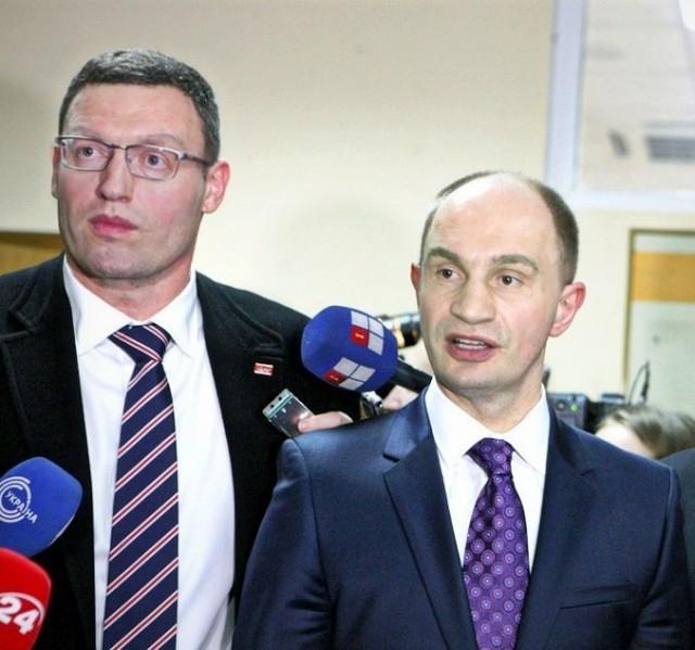Арсений Кличко и Виталий Яценюк