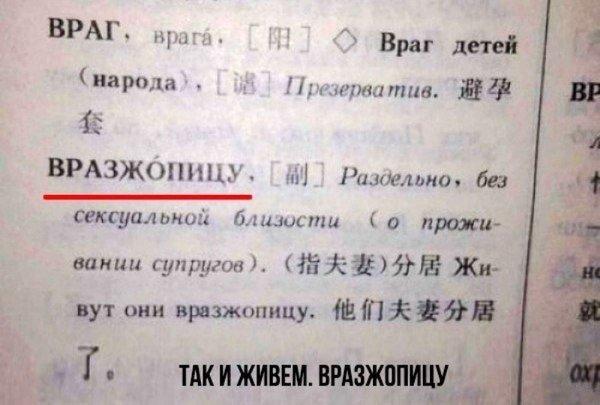 Смешные учебники для изучения русского языка