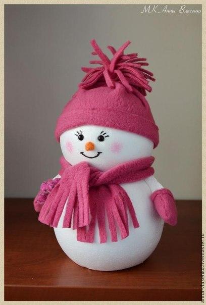 Снеговичок за полчаса своими руками