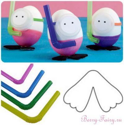 Пасхальные яйца - водолазы