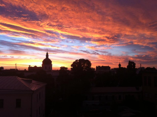 Закат в Киеве
