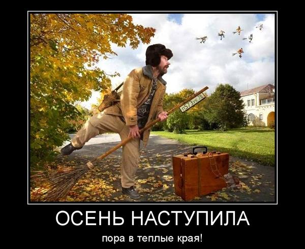 ТОП лучших демотиваторов про осень