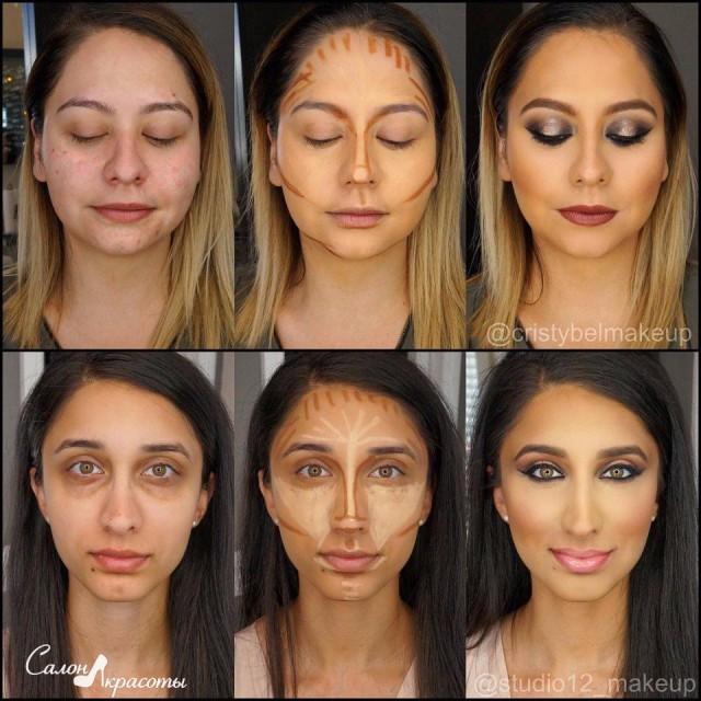 Как круглое лицо сделать худым