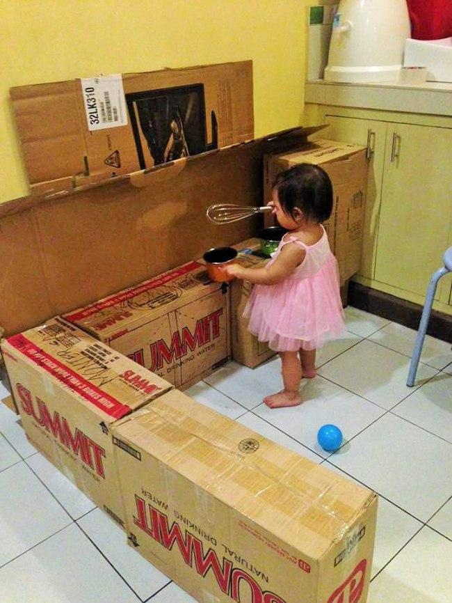 Кухня мечты из картонных коробок