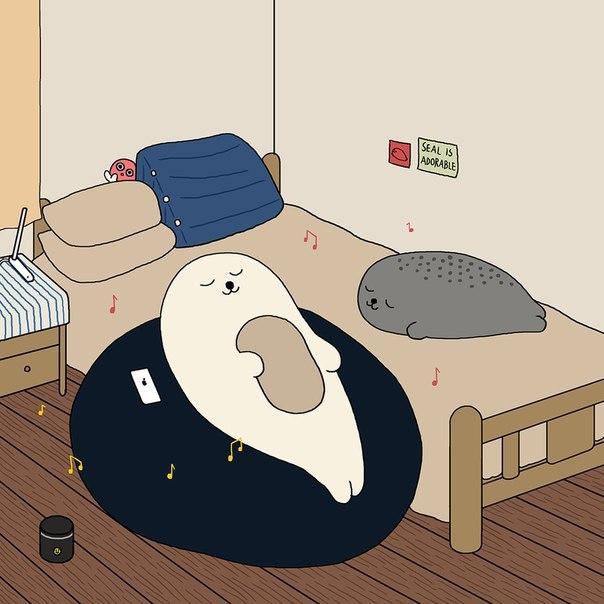 Каждый день я тюлень