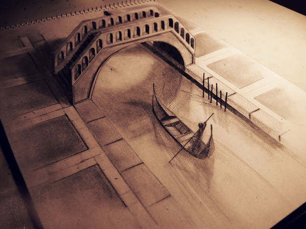 Нереальные 3д рисунки карандашом