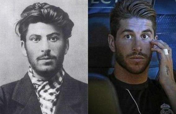 Иосиф Сталин vs Серхио Рамос. Разница между фотками около 100 лет